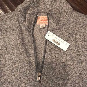 J. Crew Sweaters - J Crew Summit Fleece Half-Zip Sweatshirt In Grey